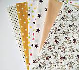 Набор хлопковой ткани для рукоделия из 6 шт., фото 3