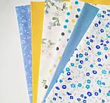 Набор хлопковой ткани для рукоделия из 5 шт., фото 3