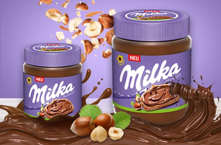 Шоколадная паста MILKA 350 грамм