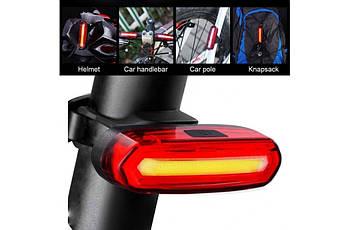Велосипедный фонарь габаритный задний USB BC-TL5434 LED Красный (LTSS-020)