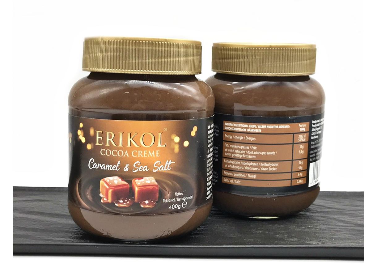 Шоколадная паста карамель с солью ERIKOL  400 грамм