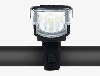 Велосипедный фонарь передний LED с электронным звонком BC-FL1588 USB Pl (LTSS-040)