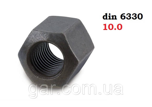 Гайка висока М8 шестигранна DIN 6330, ГОСТ 15523-70, ГОСТ 14727-69