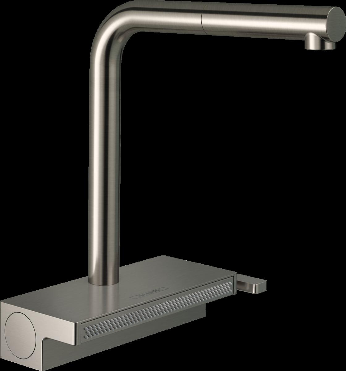 Змішувач Aguno Select 250 2jet кухонний з витяжним виливом Sbox (73830800) Stainless Steel