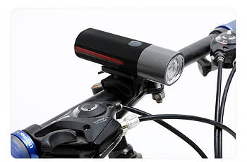 Фонарь велосипедный передний с боковой подсветкой LED USB BC-FL1628 CREE XPG питание Li-on 1200mAh (LTSS-050)