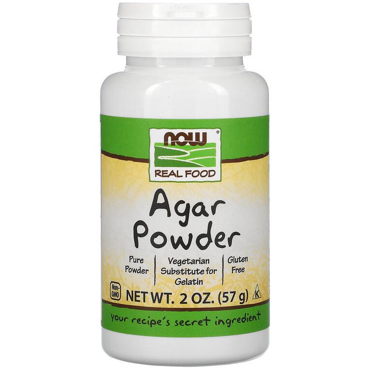 """Агар в порошке NOW Foods, Real Food """"Agar Powder"""" заменитель желатина (57 г)"""