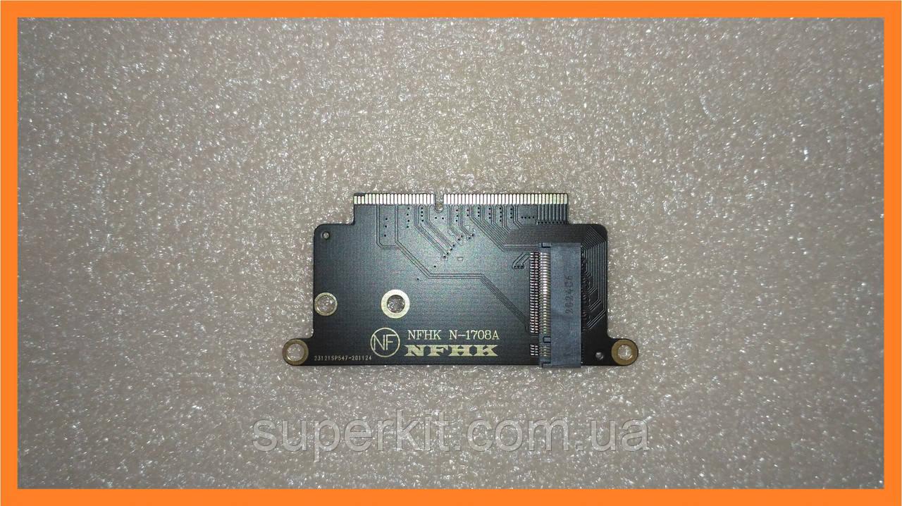 Переходник адаптер из M.2 NVMe SSD с интерфейсом подключения PCI-e - MacBook A1708