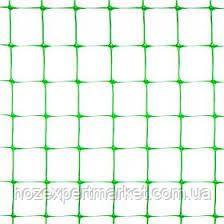 Сітка вольерная 1х50 м,осередок 12х14 мм (чорна,зелена).Паркани садові,пластикові сітки., фото 3