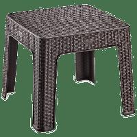 Столик для кофе под ротанг Irak Plastik 45x45 темно-коричневый