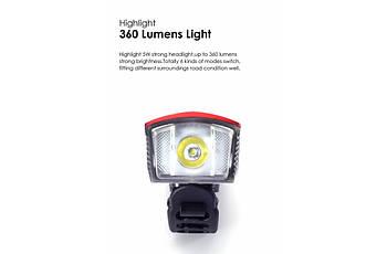 Ліхтар пер. BC-FL1592 350 лм LED живлення Li-on 1800mAh з ел дзвінком USB Pl