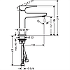 Змішувач Metropol 110 для умивальника Polished Gold Optic (32507990), фото 2