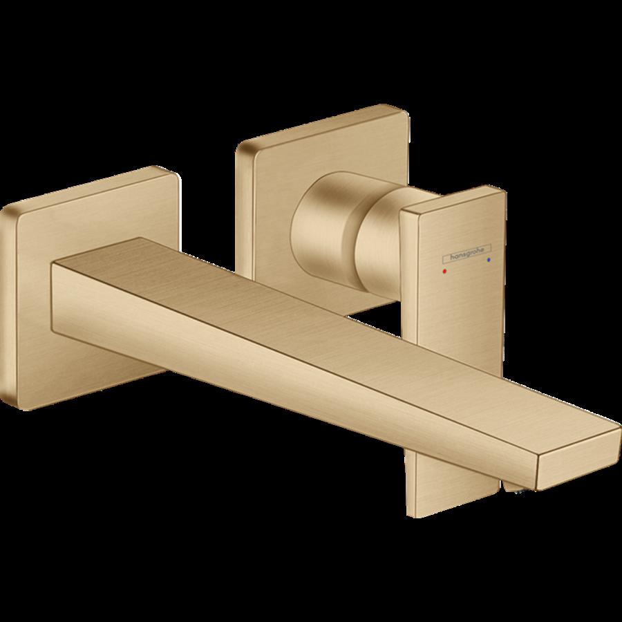 Змішувач Metropol для раковини зі стіни 225 мм Brushed Bronze (32526140)