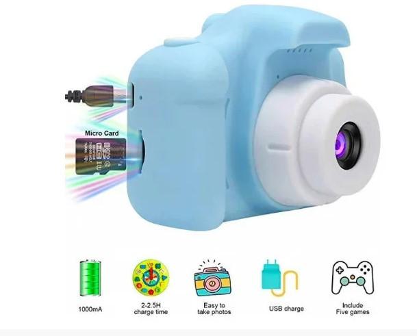 Детский фотоаппарат GM14 голубой