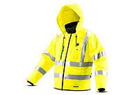Аккумуляторная куртка со светоотражателями и подогревом Makita CJ106DZXL, фото 1