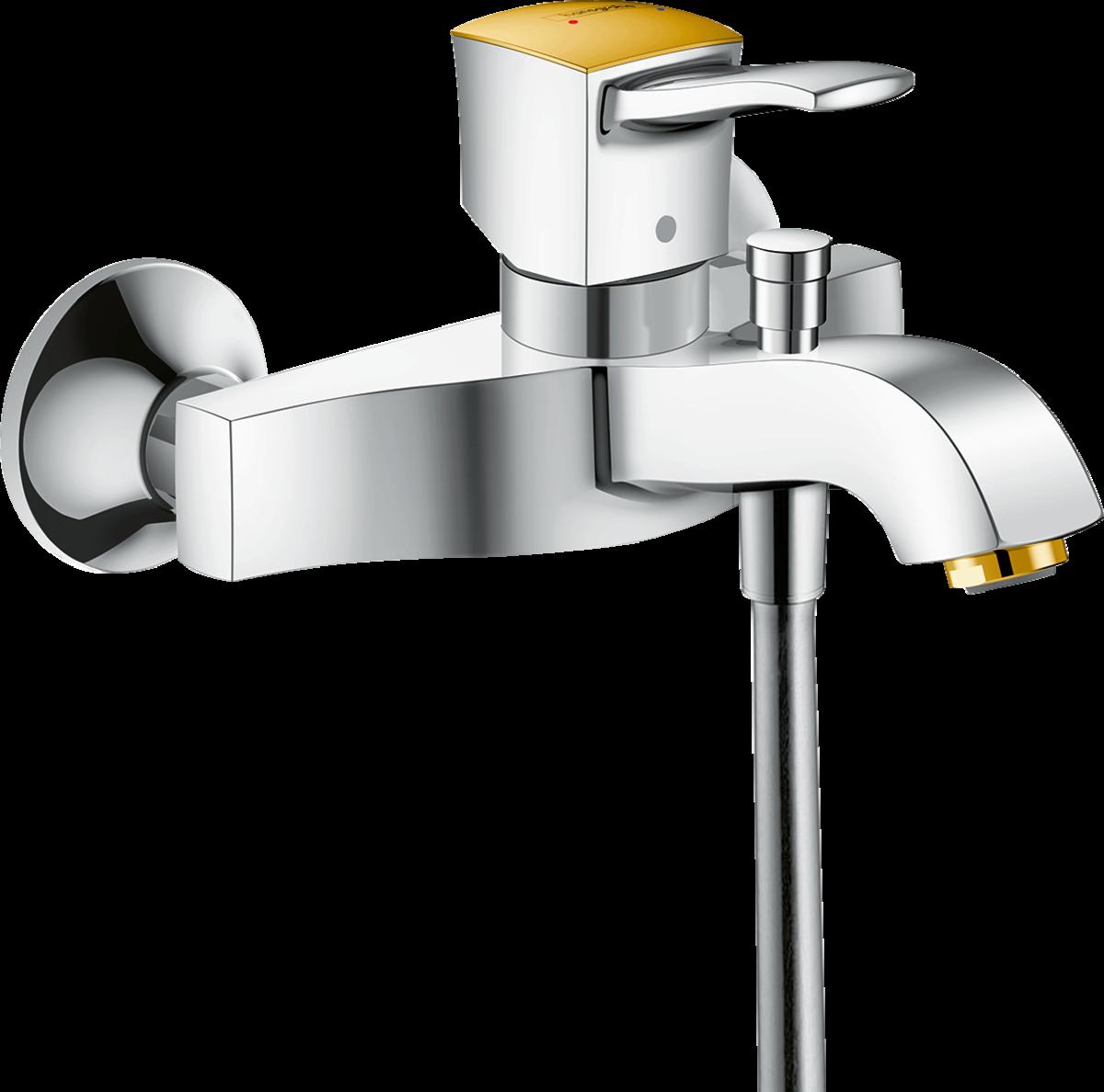Змішувач Metropol Classic для ванни Chrome/Gold Optic (31340090)