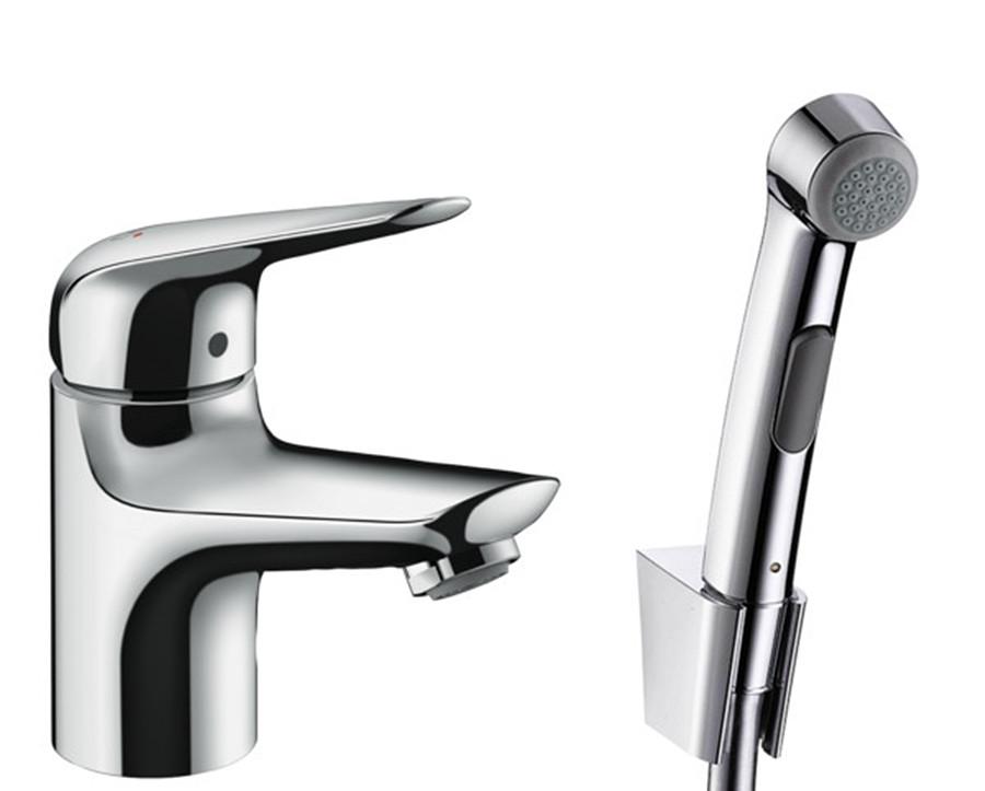 Змішувач Novus 70 для умивальника з гігієнічним душем (71144000)