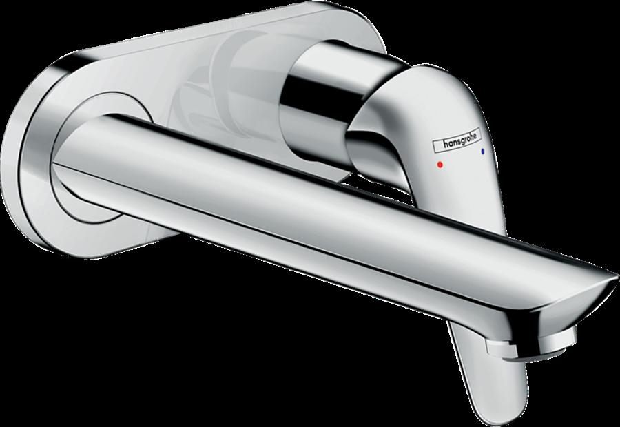 Змішувач Novus для умивальника зі стіни: прихований монтаж 195 мм, хромований (71127000)
