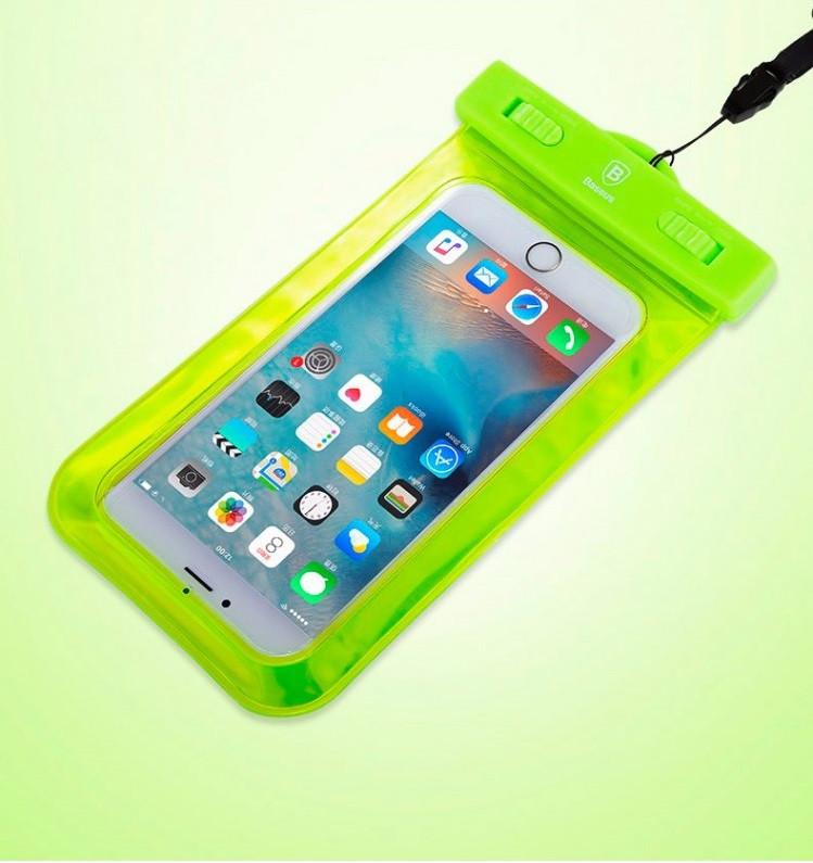 Водонепроницаемый чехол для телефона BASEUS WATERPROOF GREEN