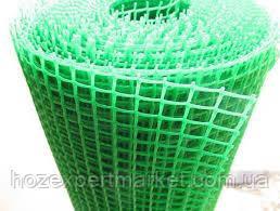 Сітка садові 1 МЕТР ВИСОТА, НА МЕТРАЖ, пластикова, забори.Ячейка 20х20мм, фото 2