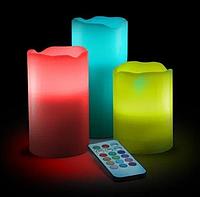 Набор ночников Luma Candles Color Changing комплект 3 свечи с пультом, электронные светодиодные на батарейках