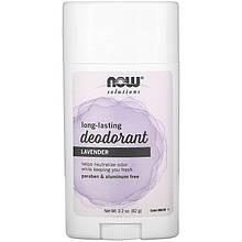 """Дезодорант-карандаш NOW Foods """"Long-Lasting Deodorant Stick"""" длительного действия, аромат Лаванды (62 г)"""