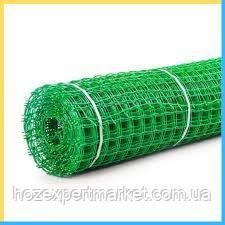 Сітка садові 1 МЕТР ВИСОТА, НА МЕТРАЖ, пластикова, забори.Ячейка 40х40 мм