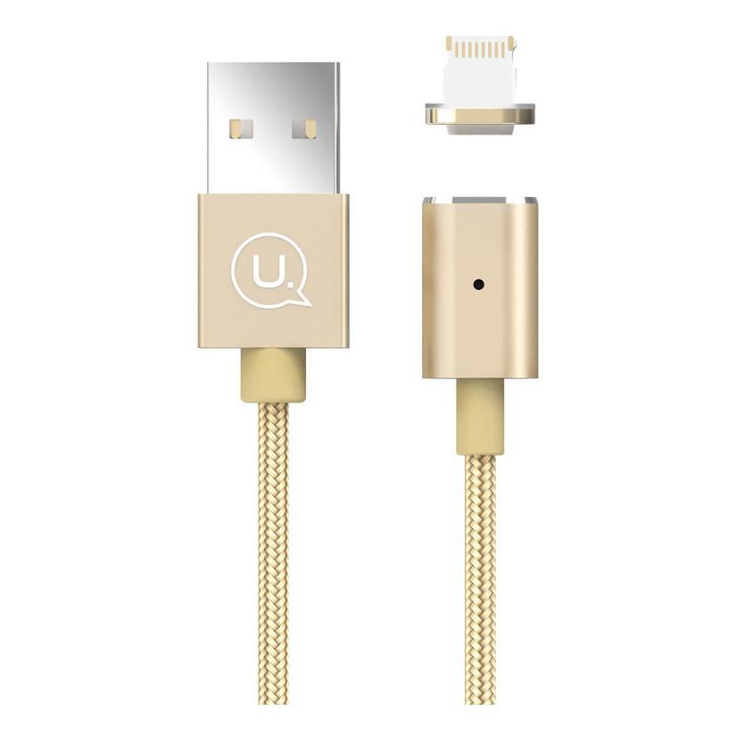 Кабель USB Usams US-SJ132 Магнітний Lightning Gold