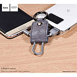 Брелок-кабель Hoco UPM19 Micro USB Black, фото 2