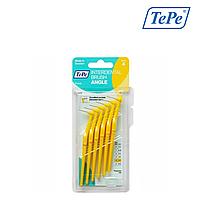 Межзубная щетка TePe Angle угловая, желтый (0,7 мм), 6 шт, фото 1