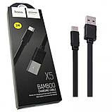 Дата кабель Hoco X5 Bamboo USB to MicroUSB (100см) Black, фото 2