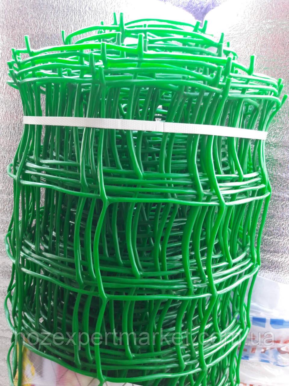 Сітка садові 1 МЕТР ВИСОТА, НА МЕТРАЖ, пластикова, забори.Ячейка 90х90 мм