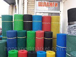 Сітка садові 1 МЕТР ВИСОТА, НА МЕТРАЖ, пластикова, забори.Ячейка 90х90 мм, фото 2