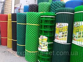 Сітка садові 1 МЕТР ВИСОТА, НА МЕТРАЖ, пластикова, забори.Ячейка 90х90 мм, фото 3
