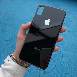 Чехол для iPhone Xs Max Glass Case Logo Черный