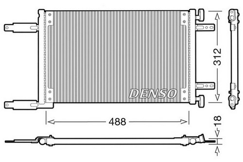 Радиатор кондиционера Fiat Doblo 1.6i 16v до 2005 года