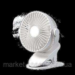 Вентилятор настольный мини на прищепке для дома и офиса GXZ-F835. Аккумулятор 1200 мАч. Цвет: белый, фото 2