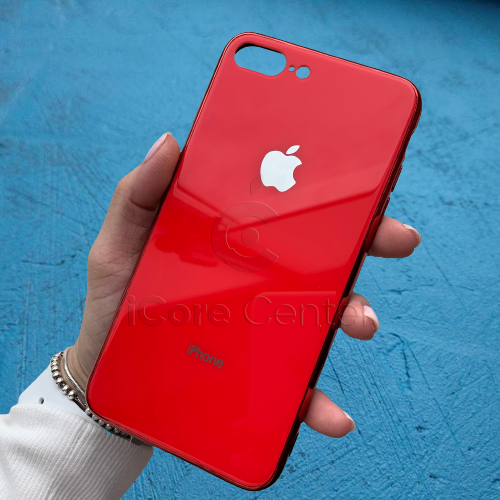 Чехол для iPhone 7 Plus / 8 Plus Glass Case Logo Красный