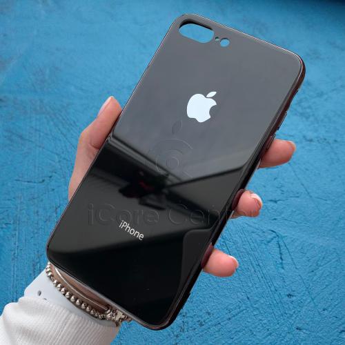 Чехол для iPhone 7 Plus / 8 Plus Glass Case Logo Черный
