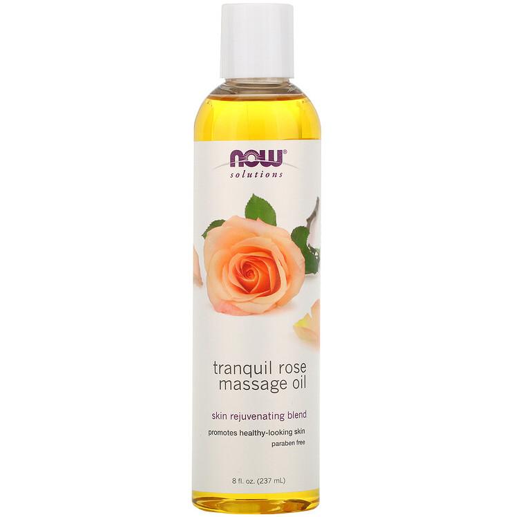 "Масажне масло з трояндою NOW Foods ""Tranquil Rose Massage Oil"" розслабляючу (237 мл)"