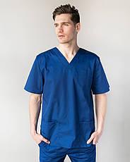Медицинский костюм Гранит  синий, фото 3