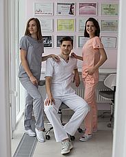 Медицинский костюм мужской Гранит белый, фото 3