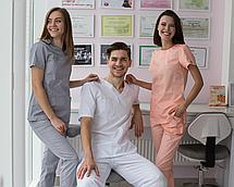 Медицинский костюм мужской Гранит белый, фото 2