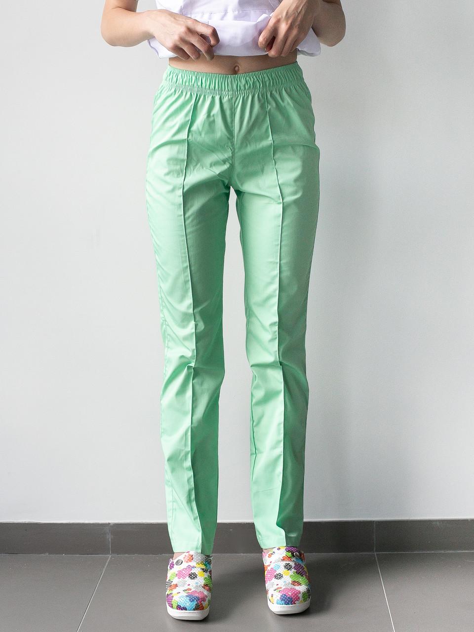 Медицинские брюки салатовые