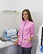 Медицинский женский костюм Сакура розовый-серый, фото 2