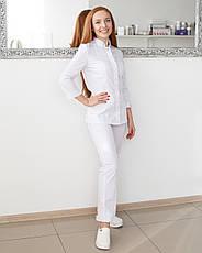 Медицинский женский костюм Сакура белый, фото 2