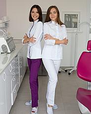 Медицинский женский костюм Сакура белый, фото 3