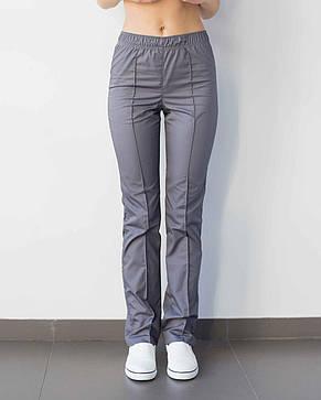 Медицинские женские брюки темно-серые, фото 2