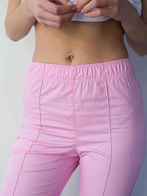 Медичні жіночі штани рожеві, фото 2