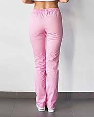 Медичні жіночі штани рожеві, фото 3