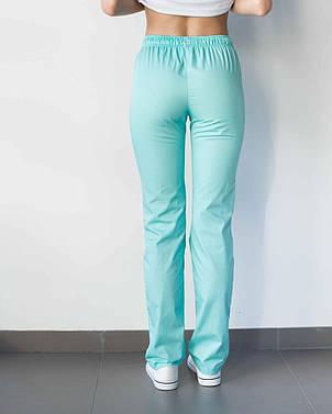 Медицинские женские брюки мятные, фото 2